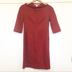 Diane Von Furstenberg DVF 6 Red Sheath Wool Blend